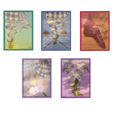 Assorted Highland Dance Note Cards 10pk
