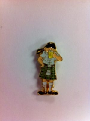 Scot Drinking Ale Pin