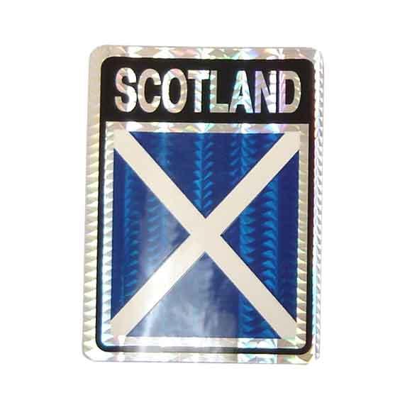 Flag Foil Sheild Deluxe Sticker