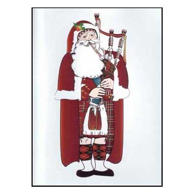 Santa Piper Christmas Cards 10pk