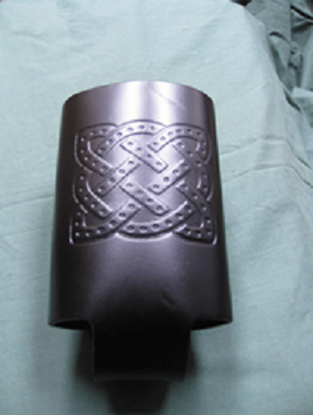 Leather Bottle Holder Celtic Embossed
