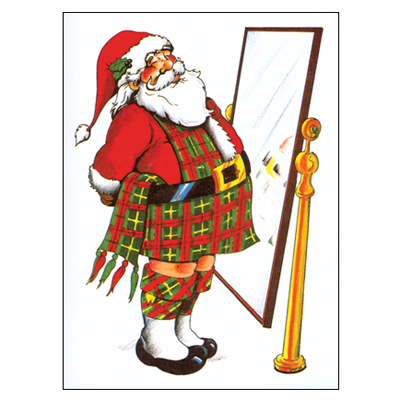 Santa in the Mirror Christmas 10pk