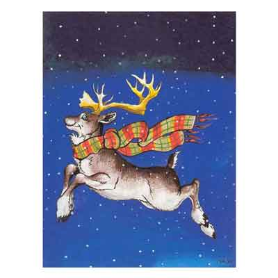 Reindeer Christmas Cards 10 pk
