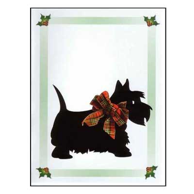 Scotty Dog Christmas Cards 10pk
