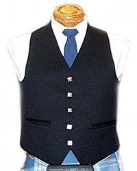 Argyle Vest Black