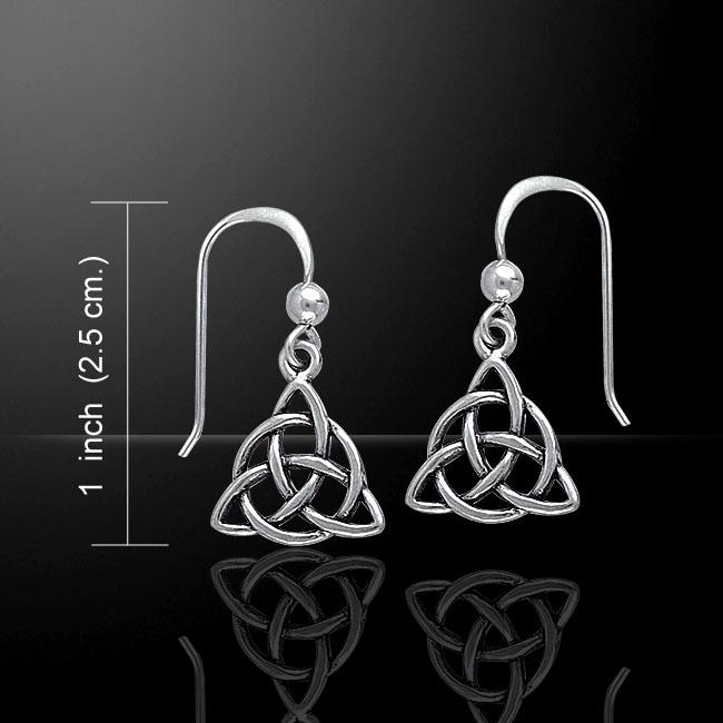 Drop Trinity Silver Earring