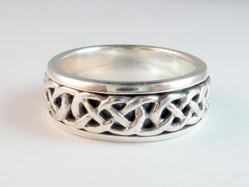 Silver Celtic Knot Spinner Ring