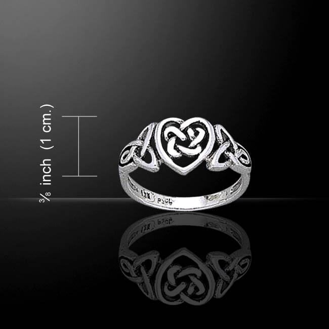 Silver Celtic Heart Ring