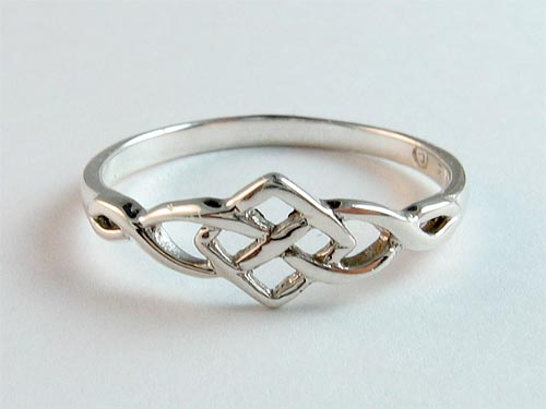 Silver Square Knot Ring
