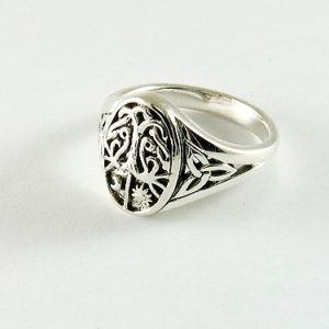 Silver Moon & Sun Trinity Ring