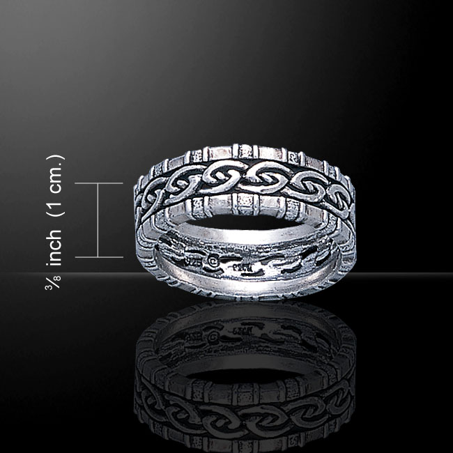 Silver Band Celtic Edge Ring