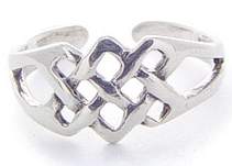 Silver Celtic Weave Toe Ring