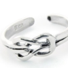Silver Love Knot Toe Ring