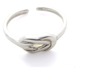 Silver Small Love Knot Toe Ring