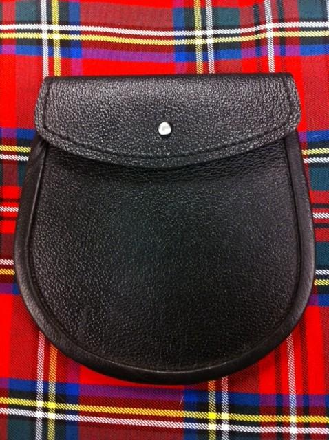 Leather Sporran Textured Plain