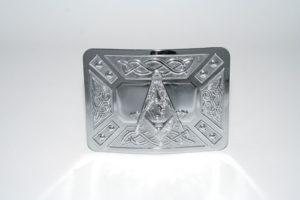 Masonic Celtic Dress Buckle Chrome