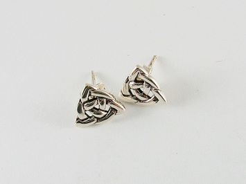 Trinity Stud Silver Earring