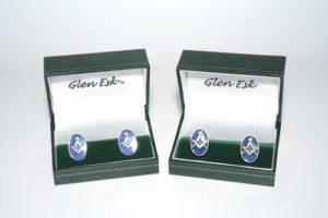 Masonic Cufflinks Chrome