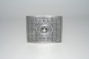Pewter Oval Buckle Polished
