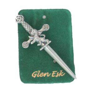 Pewter Lion Kilt Pin Antique