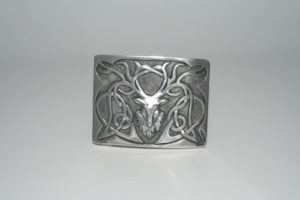 Pewter Stag Buckle Polished