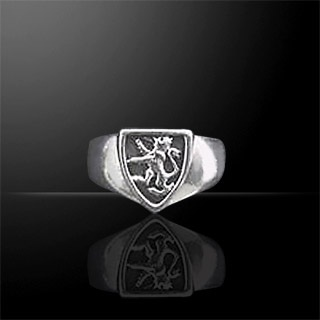 Silver Scottish Lion Ring