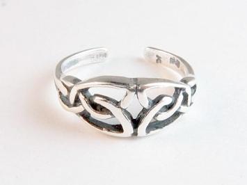 Silver Celtic Toe Ring