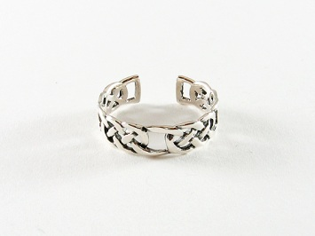 Silver Celtic Link Toe Ring
