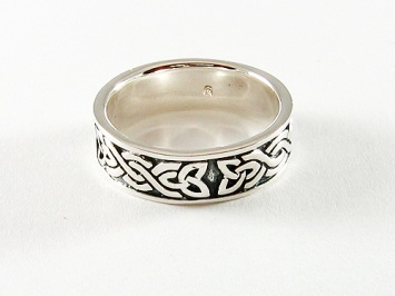 Silver Celtic Knot Band Ring