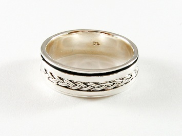 Silver Celtic Braid Spinner Ring