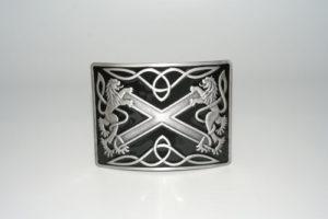Highland Saltire Black Enamel Buckle Antique