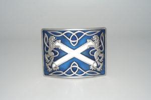 Highland Saltire Blue Enamel Buckle Antique