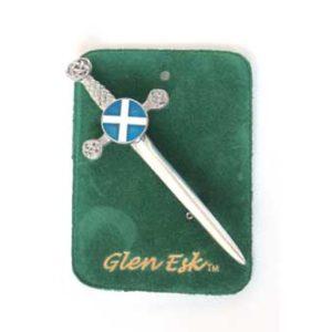 Saltire Kilt Pin Chrome