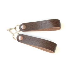 Sporran Suspenders Brown Link Embossed