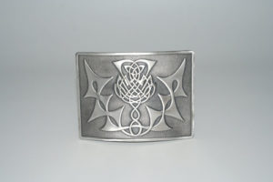 Highland Thistle Buckle Antique