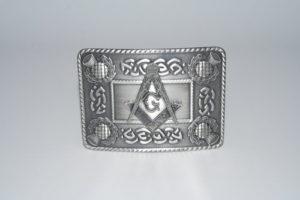 Masonic Celtic Thistle Buckle Antique
