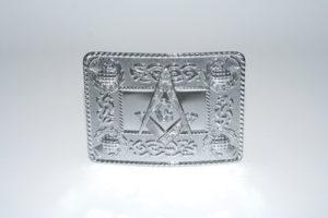 Masonic Celtic Thistle Buckle Chrome