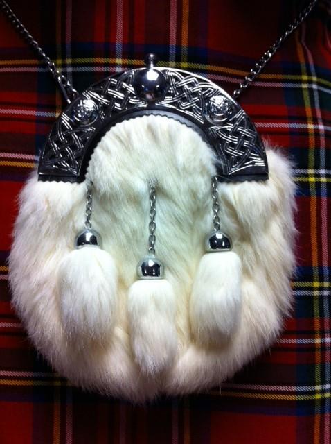 Fur Sporran White Rabbit Dress