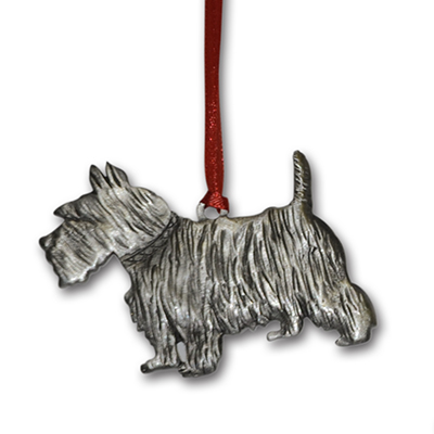 Scotty Pewter Christmas Ornament