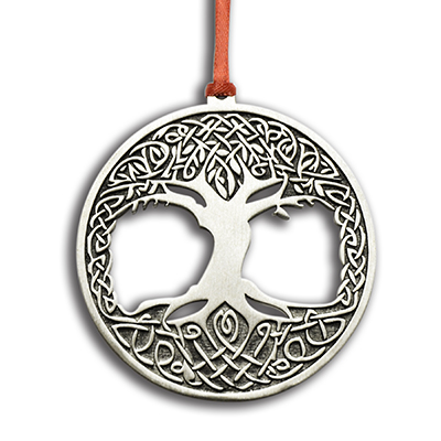 Tree of Life Pewter Christmas Ornament