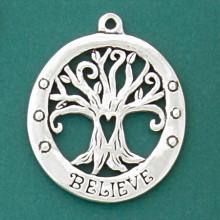 Pewter Believe Tree