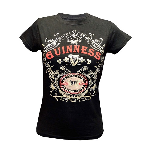 GUINNESS® Black Butterfly T-Shirt (Ladies)