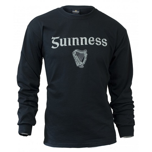 GUINNESS®  Distressed Gaelic Label Long Sleeve