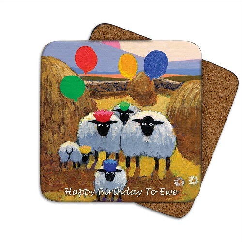 Coaster Happy Birthday To Ewe