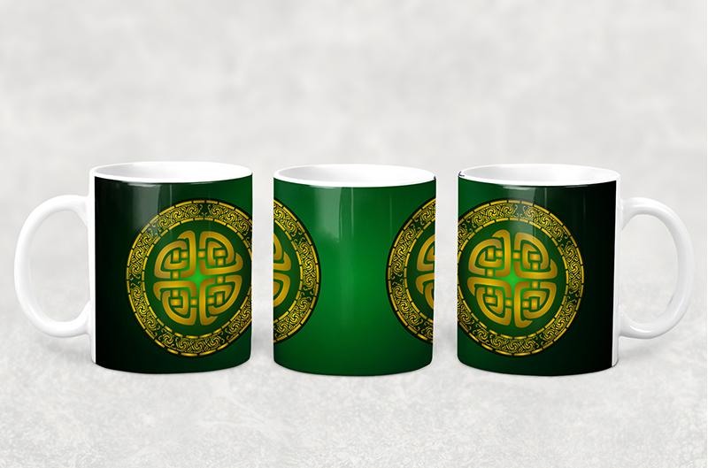 Mug Green Celtic Knot