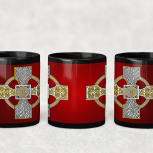 Mug Red Celtic Cross