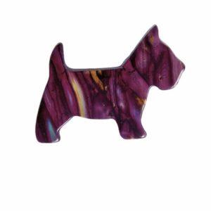Heathergem Scottie Dog Brooch