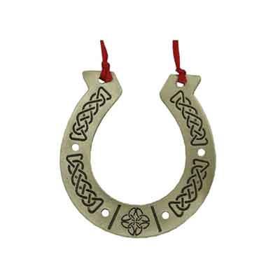 Pewter Horseshoe Ornament